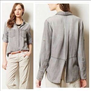Anthropologie Cloth and Stone grey chambray top
